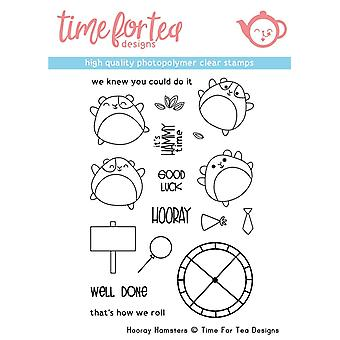 Time For Tea Hooray Hamster Clear Stamps