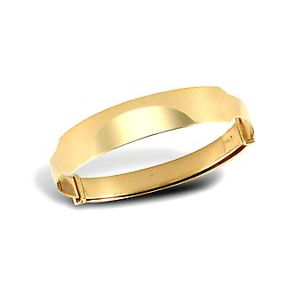 Jewelco London Baby Solid 9ct Yellow Gold Diamond Cut ID 5mm Expanding Bangle Bracelet