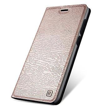 Schlanke Holz Korn PU Fall für Redmi Note 8 Pro - Rose Gold
