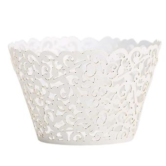 Filigree Cupcake Wrappers For Wedding And Birthday Party