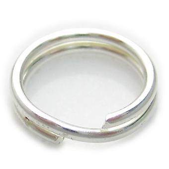 1 X 7mm Split Ring Sterling Zilver .925 Charm Sleutelhangers Ringen - 6012