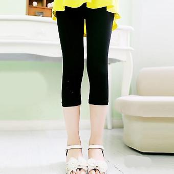 Girls Knee Length Five Pants- Cropped Clothing, Spring & Summer All Matches