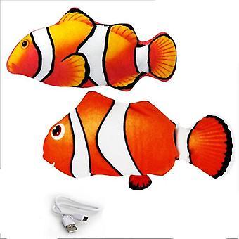 Soft Plush Shaking Stuffed Interactive Dancing Fish Playing Soft Cat Toy
