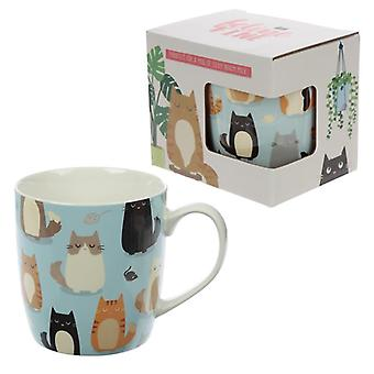 Tazza in porcellana da collezione - design felino fine per gatti