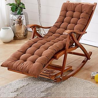 Bamboo Rocking Balcony Recliner Adult Lunch Break Siesta Lazy Casual Wood Chair