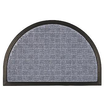 Esteras de goma de puerta de servicio pesado al aire libre alfombras de bienvenida de 60 x 40 cm de gris