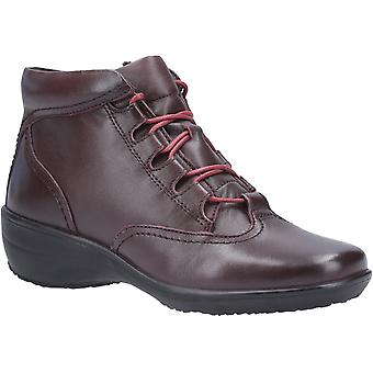 Fleet & Foster Merle Womens Ladies Leather Ankle Boots Burgundy UK Size