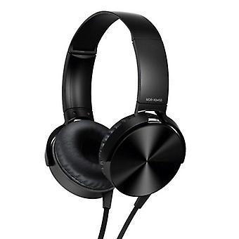 3.5mm Audio On Ear Headphones With Mic, Portable Fold-flat Stereo Bass Headsets