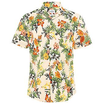 Hartford Slim Fit Palm Print Slam Shirt