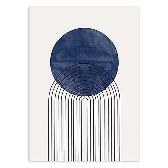 Art-Plakat - Blå sol - Miuus studio