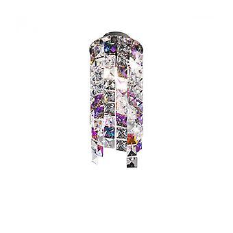 Foco De Diseño En Cromo Cristal Prisma 1 Bombilla, Altura 25 Cm