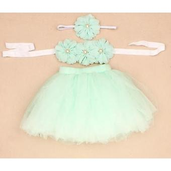3-piece Set Including Tutu Skirt, Headband And Top For Newborn Baby Photo Props