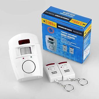 2-fjernbetjening Controller Trådløs Alert Sensor, Motion Detector, Alarm System