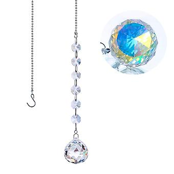 Suncatcher Octagon Beads Rainbow Maker Hanging Chandelier Ball Prisms Drop Home