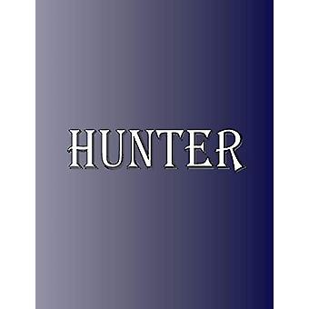 Hunter - 100 Pages 8.5 X 11 Personalized Name on Notebook College Rule