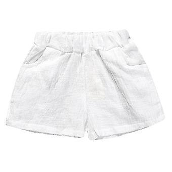 Baba nyári pamut szilárd pp vászon rövidnadrág hárem nadrág