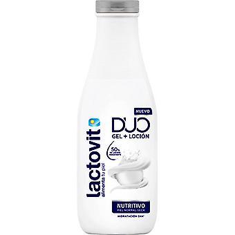 Lactovit Duo Nourishing Gel + Lotion 600 ml