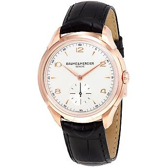 Baume and Mercier Clifton Silver Dial 18kt Rose Gold Men's Watch 10060