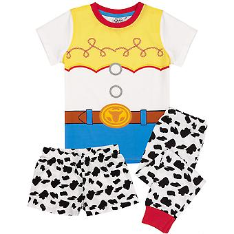 Disney Toy Story Pyjamas For Girls Long OR Short Bottoms | Kids Jessie Cowgirl T Shirt & Legging PJs | Cosplay Fancy Dress Outfit Merchandise
