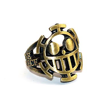 One Piece Trafalgar Law Anime Ring Retro Hollow Alloy Finger Ring Cartoon Collection
