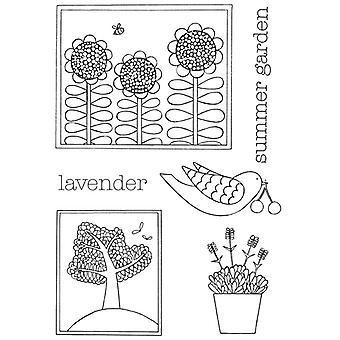 Personal Impressions Beth Hughes Summer Garden Clear Stamp Set