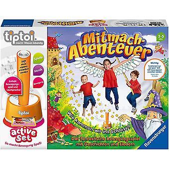 HanFei tiptoi 00044 aktiv Set Mitmach-Abenteuer, Kinderspiel ab 3 Jahre, Bewegungsspiel mit