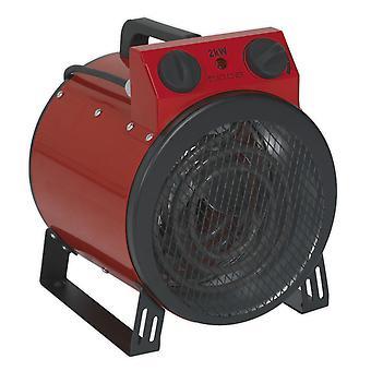 Sealey Eh2001 industri fläkt värmare 2Kw