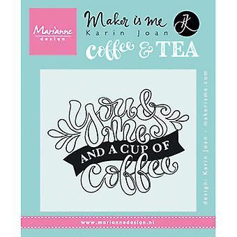Marianne Design You and Me i filiżanka znaczków kawy