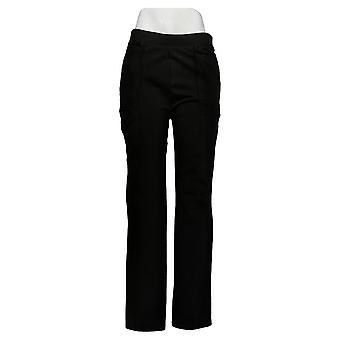 Susan Graver Women's Pants Slim-Leg Pull-On Black A384273