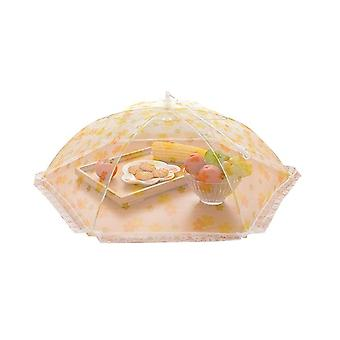 Creative Home Furnishing Lace Printing Practical Mesh Folding Umbrella Meal Cover Kitchenware