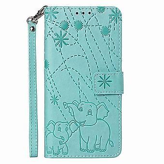 Skórzany futerał na wzór słonia do Samsung Galaxy Note 9 - Zielony