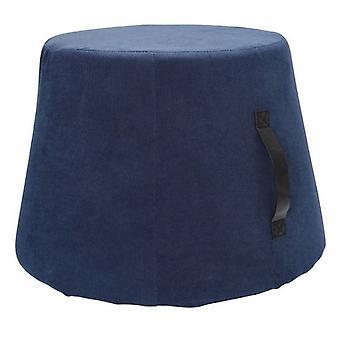 hocker 45 x 37 cm Samt/Polyurethan blau