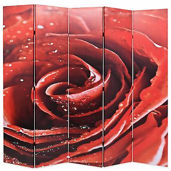 vidaXL huoneenjakaja taitettava 200 x 170 cm Ruusunpunainen
