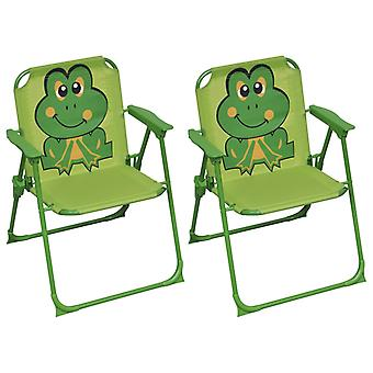 vidaXL children's garden chairs 2 pcs. green fabric