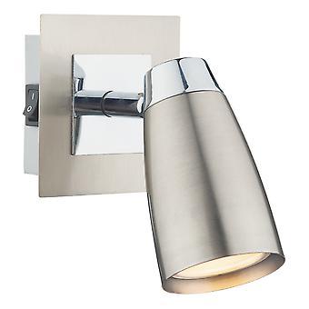 DAR LOFT Low Energy Spot Lampe Schalter Satin Chrom, poliert Chrom, 1x GU10