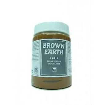 Vallejo Stone Textures - Brown Earth - 200ml Tub