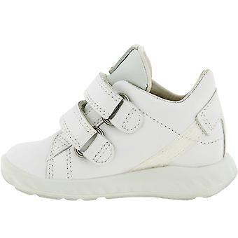 ECCO Infants Kids SP.1 Hook & Loop Leather Trainers Sneakers Shoes - White