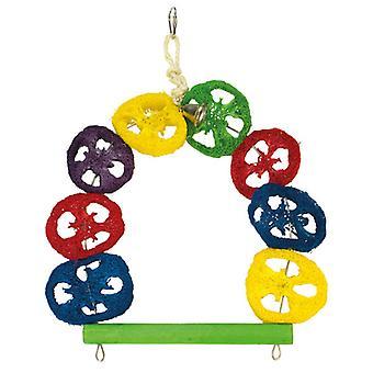 Arquivet schommel kleurrijke 1 Campana (vogels, vogel kooi accessoires, speelgoed, schommels.)