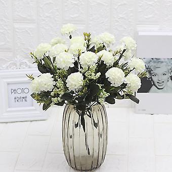 5Kpl keinotekoinen kukka hydrangea muovi fake vihreät kukat