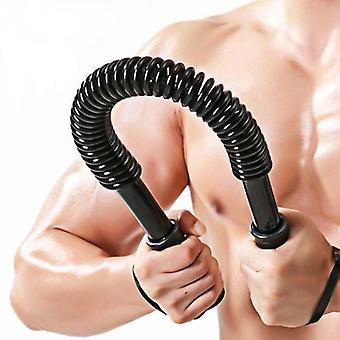 Unisex Arm Bröststyrka Träning Fjäder Power Twister Bar Fitness Muskeluppbyggnad Styrka är 20KG Power