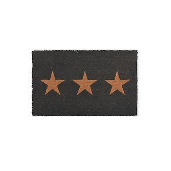 Garden Trading Coir Charcoal Star Doormat