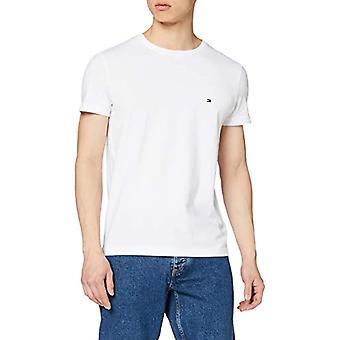 Tommy Hilfiger Core Stretch Slim Cneck Tee T-shirt, White (Bright White 100), Medium Men