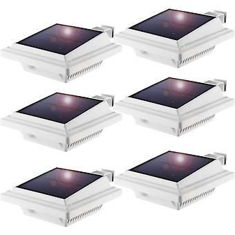 Solar Dachrinnenleuchte, Solarlampen für Außen, 25LEDs Solarlicht, Auto ON/OFF, Weiß, Warmes Weiß