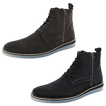 Steve Madden Mens Instinct Zip Up Ankle Boot Shoes