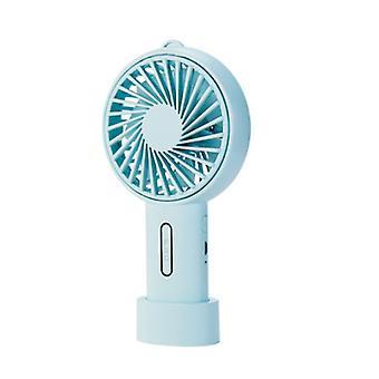 Pink handheld desktop fan, usb rechargeable mini fan az17930