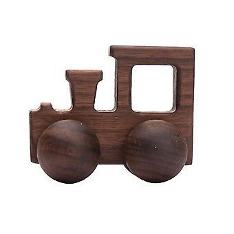 طفل لعبة خشب الزان كتل السيارات الكرتون التعليمية montessori التسنين اللعب 1pc
