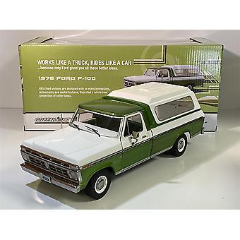 1976 Ford F-100 Grön och Vit 1:18 Skala Greenlight 13545