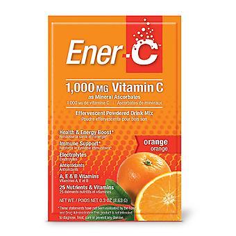 """Ener-C Ener-C תערובת משקאות מולטי ויטמין C מולטי ויטמין C, 1000 מ""""ג, תפוז, 30 חבילות"""