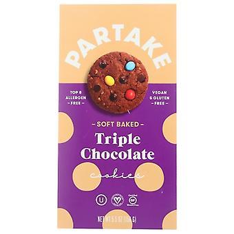 Partake Foods Cookie Trpl Choc Soft Bke, prípad 6 X 5,5 Oz