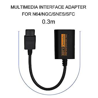 Hdmi-compatible switch converter to hdtv video scart cable splitter game console conversion accessories for n64 snes ngc sfc